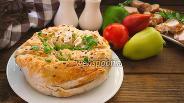 Фото рецепта Пирог из лаваша с горошком и сыром
