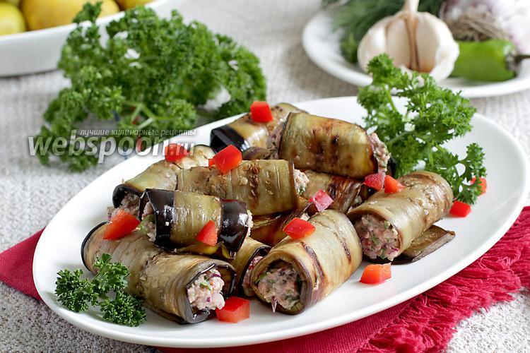Фото Грузинская закуска из баклажанов