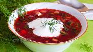 Фото рецепта Свекольник с маринованной свёклой