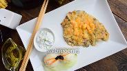 Фото рецепта Тилапия с креветками под сырной корочкой