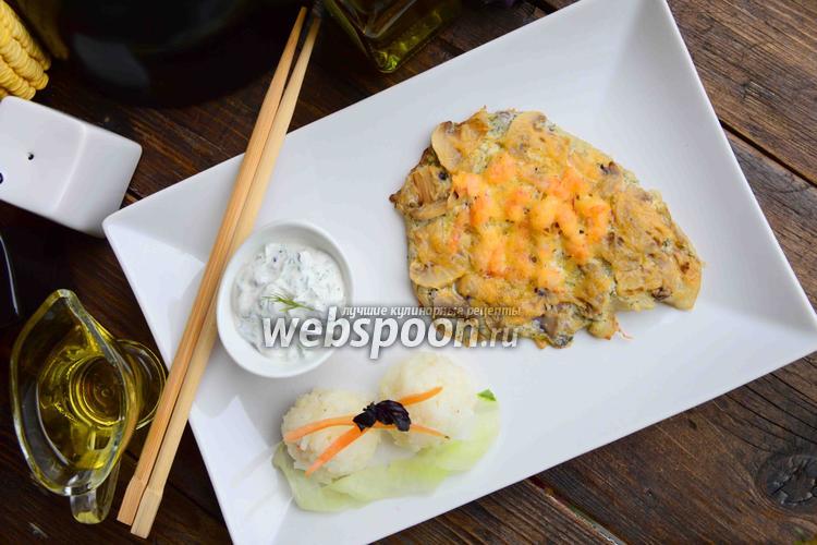 Фото Тилапия с креветками под сырной корочкой