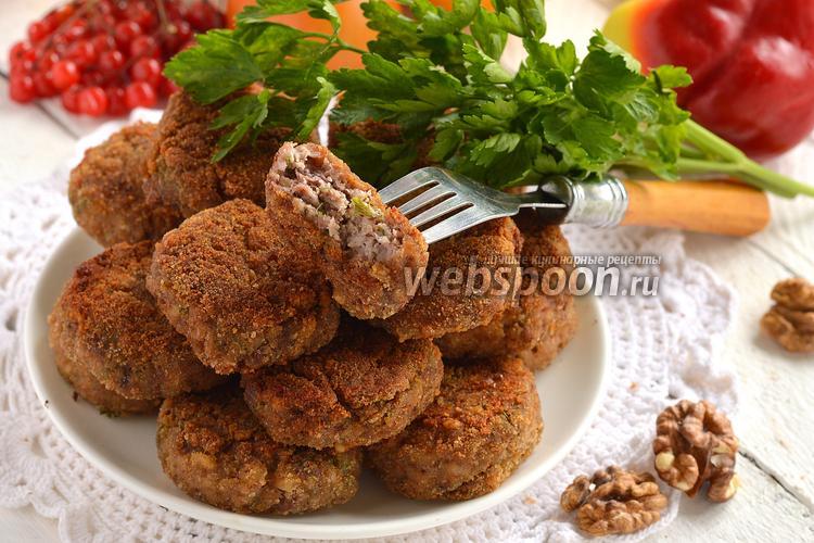 Фото Котлеты с фасолью и орехами