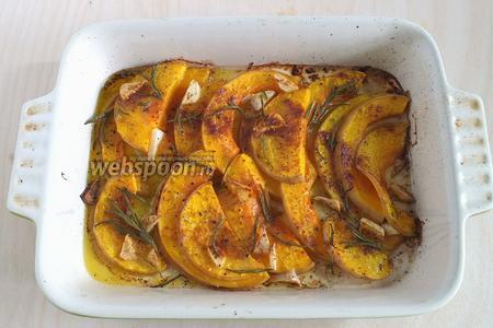 Готовая тыква должна стать мягкой и приобрести золотистый оттенок. Подавайте к столу. Отличным дополнением к этому блюду станут: свежий домашний хлеб, йогурт и овощной салат. Приятного аппетита!