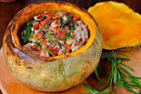 Тыква фаршированная мясом, тархуном и овощами по-домашнему