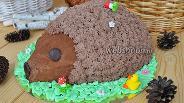 Фото рецепта Торт шоколадный «Ёжик»