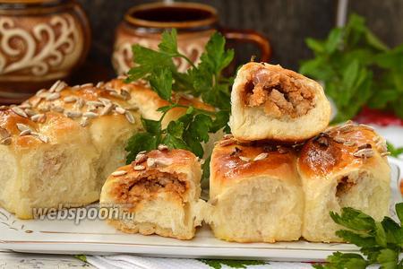 Пирожки с фасолью и куриным фаршем