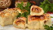 Фото рецепта Пирожки с фасолью и куриным фаршем
