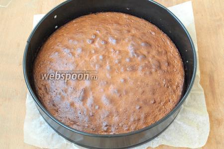 Разогреть духовку до 180°С и выпекать пирог 45 минут. Готовность пирога проверить с помощью деревянной палочки — она должна быть сухой. Остудить пирог в форме.