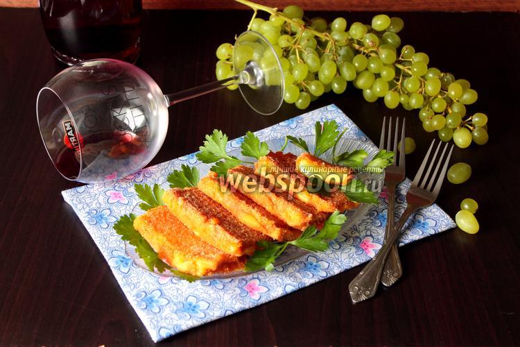 Фото Сыр жареный с томатом