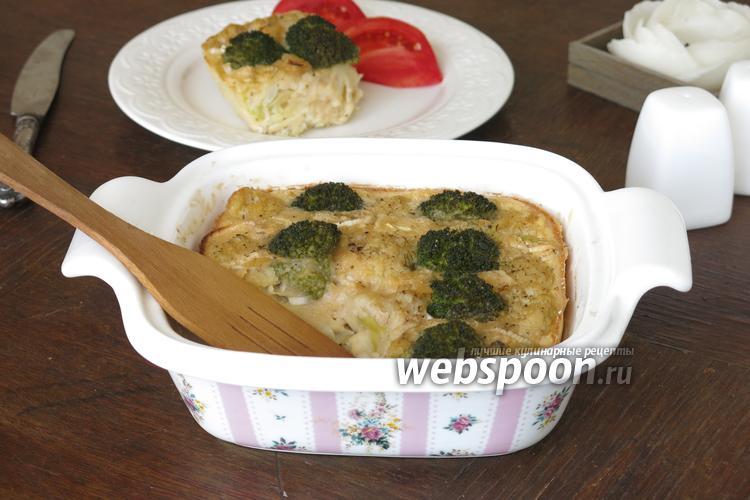 Фото Овощная шарлотка с рыбой