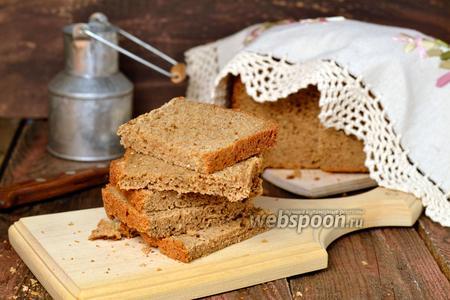 Ржаной хлеб с творогом и картофельными хлопьями