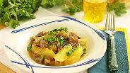 Фото рецепта Кусочки баранины с лучком и картофелем