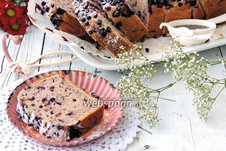 Творожный кекс с черникой