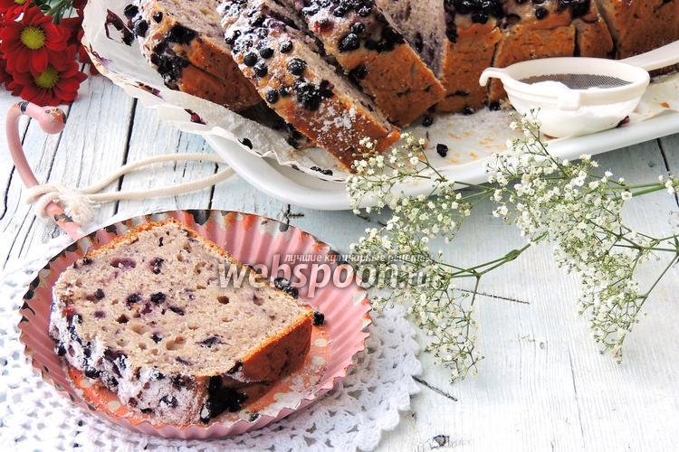Фото Творожный кекс с черникой