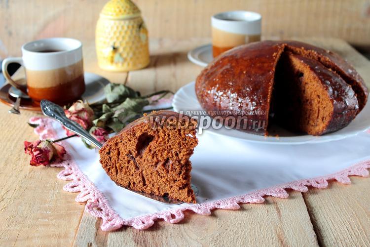 Фото Медовый заварной пирог в мультиварке