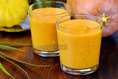 Напиток из тыквы с мятой и молоком