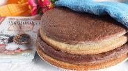 Фото рецепта Коржи для торта «Полстакана»