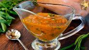 Фото рецепта Тыквенный соус с аджикой, перцем, мятой и тархуном