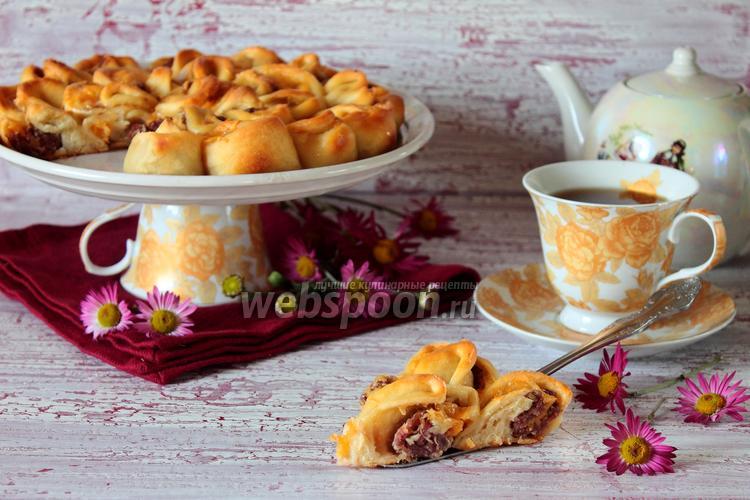 Фото Мясной пирог «Хризантема»