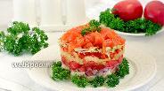Фото рецепта Салат с  форелью и овощами