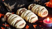 Фото рецепта Печенье на Хэллоуин «Мумии»