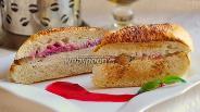 Фото рецепта Панини с индейкой и клюквенным соусом