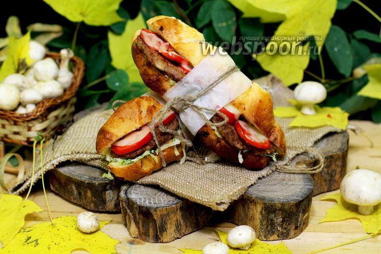 Фото Сэндвич с котлетами