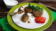 Фото рецепта Котлеты с печёным баклажаном