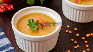 Фото рецепта Чечевичный суп-пюре с лососем