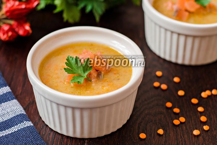 Фото Чечевичный суп-пюре с лососем