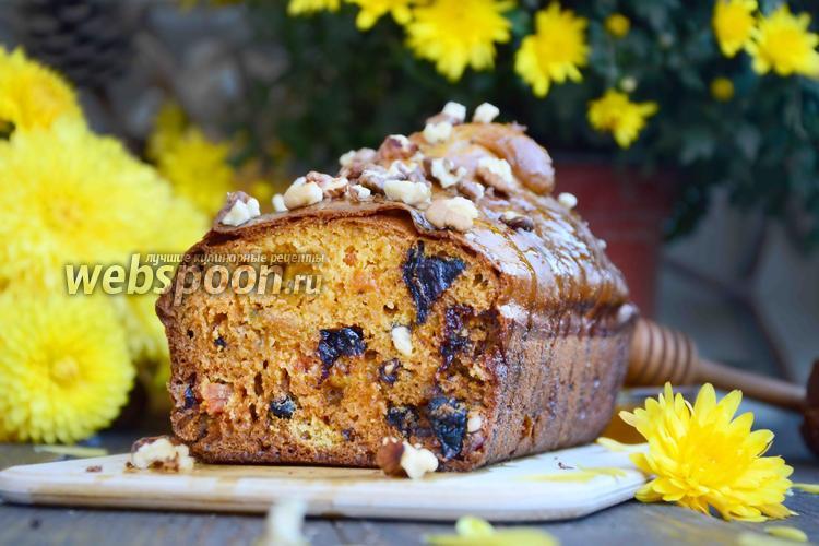 Фото Тыквенный кекс с сухофруктами и орехами