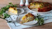 Фото рецепта Заливной пирог-перевёртыш с капустой, курицей и картофелем