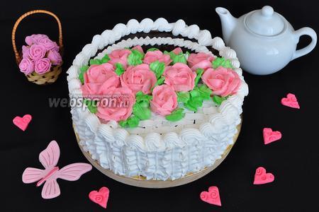 Торт «Корзинка с цветами»
