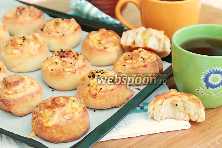 Фото Дрожжевые рулетики с картофельно-сырной начинкой