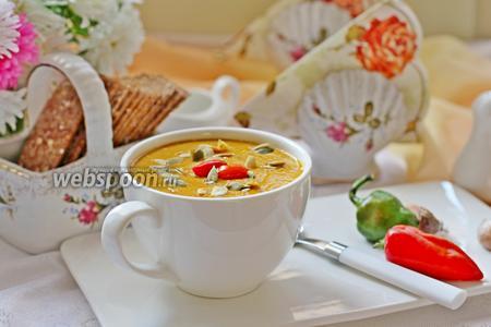 Острый тыквенно-чечевичный суп-пюре