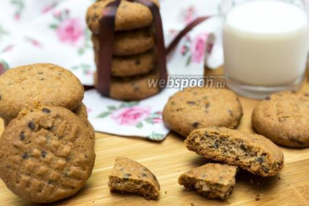 Печенье из цельнозерновой муки с шоколадом
