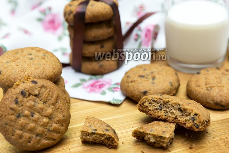 Фото Печенье из цельнозерновой муки с шоколадом