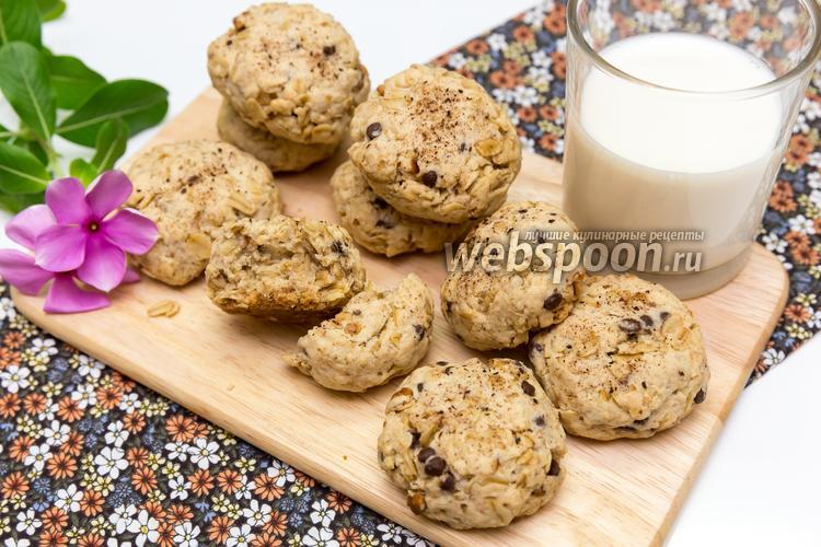 Фото Овсяное печенье с шоколадом и орехами