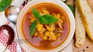 Фото рецепта Пряный суп с нутом и цветной капустой