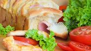 Фото рецепта Холостяцкий хлеб-бутерброд с колбасой и сыром