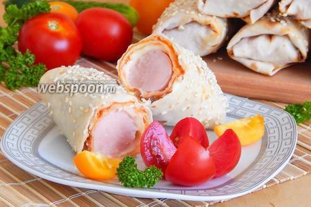 Фото рецепта Сосиски в лаваше