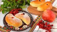 Фото рецепта Пирожки с яблоками и калиной