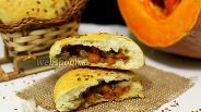 Фото рецепта Пышки с тыквой и мясом