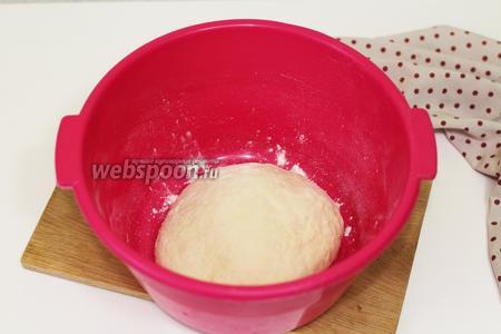 Готовое тесто укрываем полотенечком и отправляем на расстойку в тёплое мксто, примерно на 50-60 минут.
