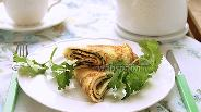 Фото рецепта Блинчики с кинзой и сыром