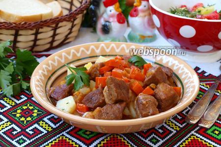 Поджарка из свинины с луком и морковью