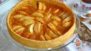 Фото рецепта Яблочный пирог с карамельным кремом