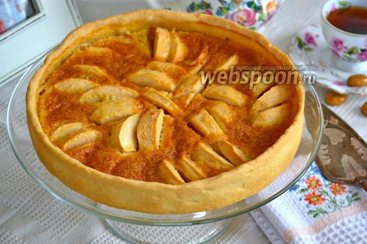 Фото Яблочный пирог с карамельным кремом