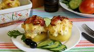 Фото рецепта Картофель, фаршированный лисичками