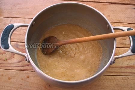 Правильно приготовленная мука будет вот такого цвета. Она даёт цвет супу и вкус.